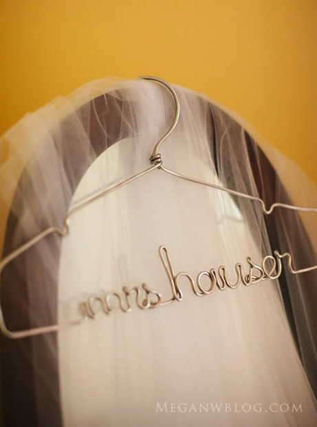 Свадьба - The Original Silver Lingerie, Personalized Wire Wedding Dress Hanger - New