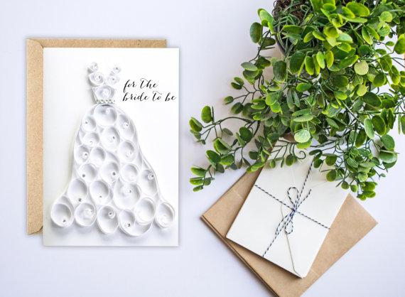 bridal shower card wedding card congratulations card bride to be card wedding shower card card for bride paper quilling handmade new