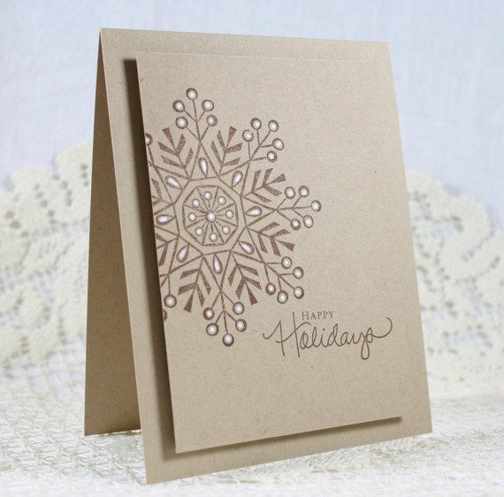 Mariage - Handmade Holiday - Christmas Greeting Card - New