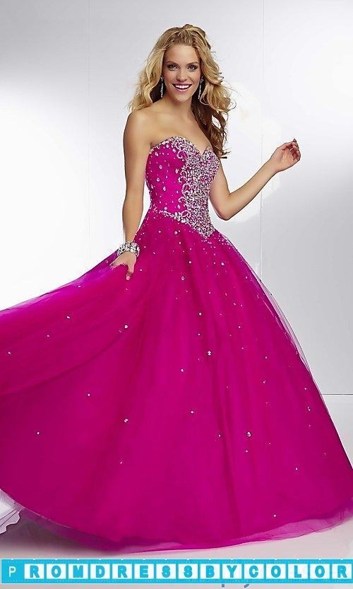 Свадьба - $235 Designer Prom Dresses - Long Strapless Sweetheart Ball Gown at www.promdressbycolor.com