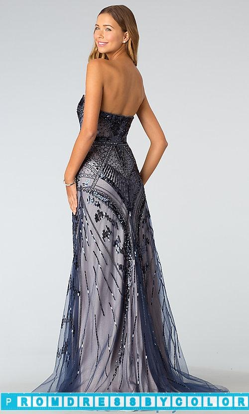 Wedding - $203 Designer Prom Dresses - Strapless Floor Length Bead Embellished Dress at www.promdressbycolor.com