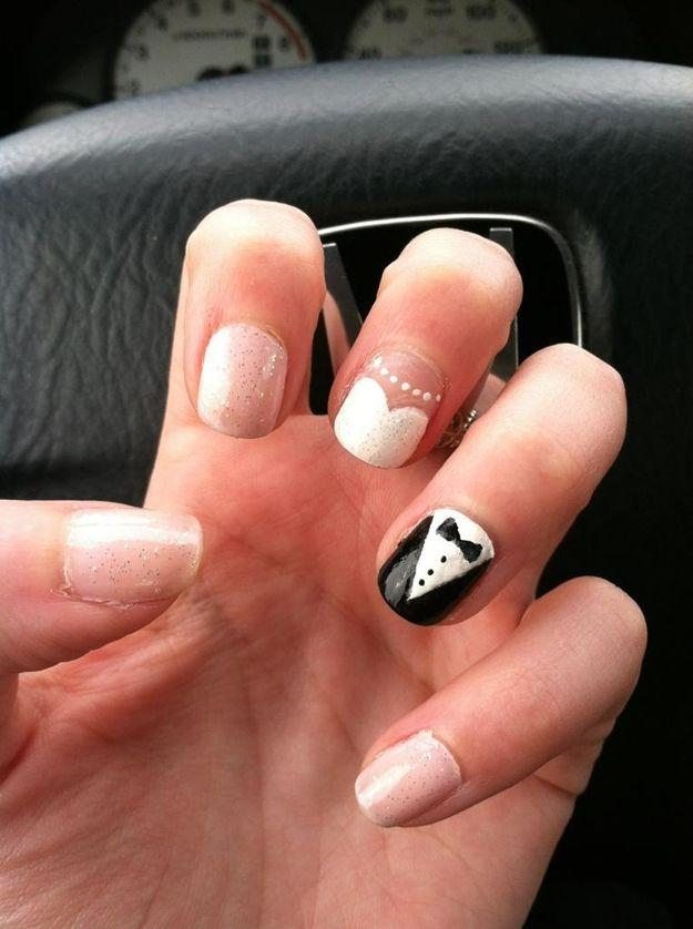 Hochzeit - 24 Delightfully Cool Ideas For Wedding Nails