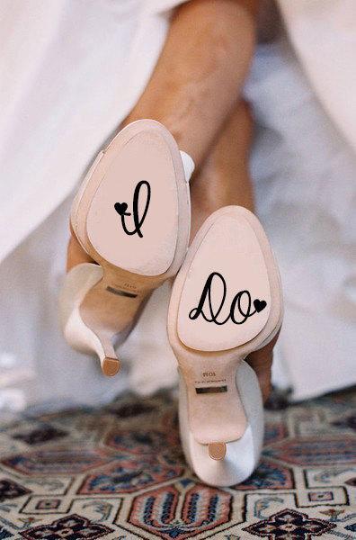 زفاف - I Do Wedding Shoe Decal - New