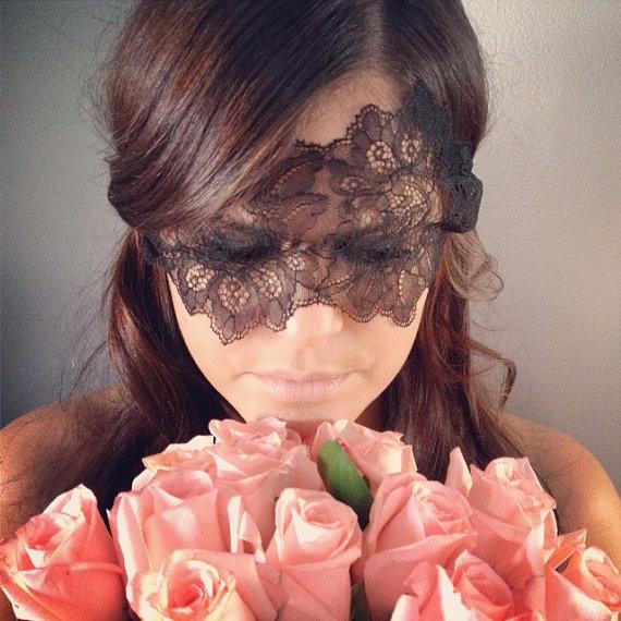 Mariage - Boudoir Mask in Black - New