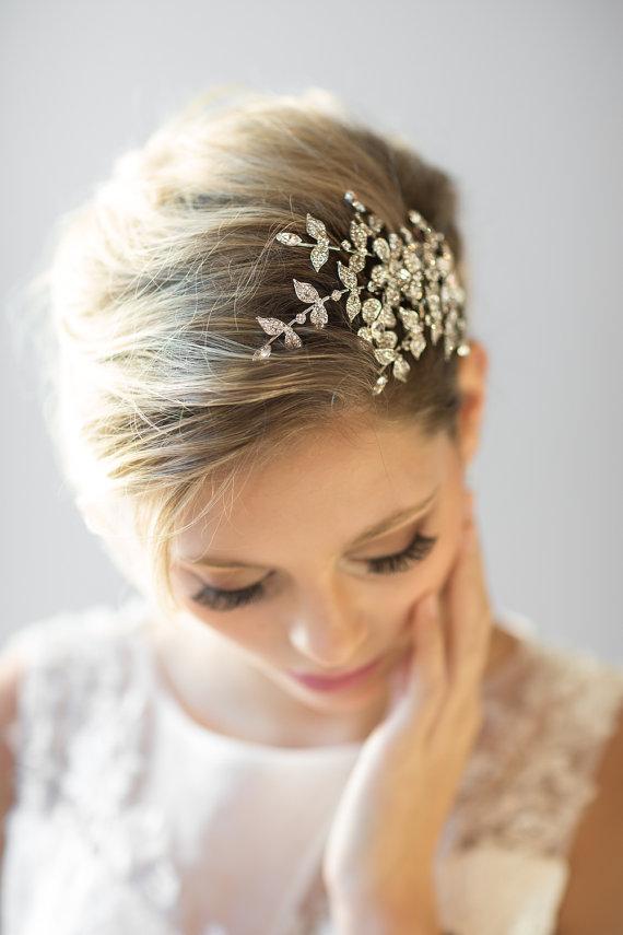 Mariage - Crystal-Bridal Kamm, Hochzeit-Haar-Accessoire, Braut Haar-Zubehör - New