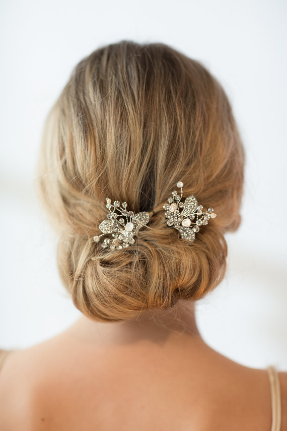 Wedding - Wedding Hair Pins, Bridal Hair Pins, Freshwater Pearl Wedding Hair Pins - New