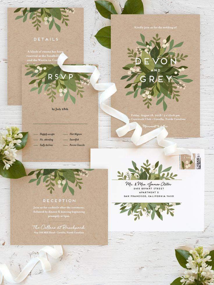 Mariage - Laurel Of Greens Wedding Invitations