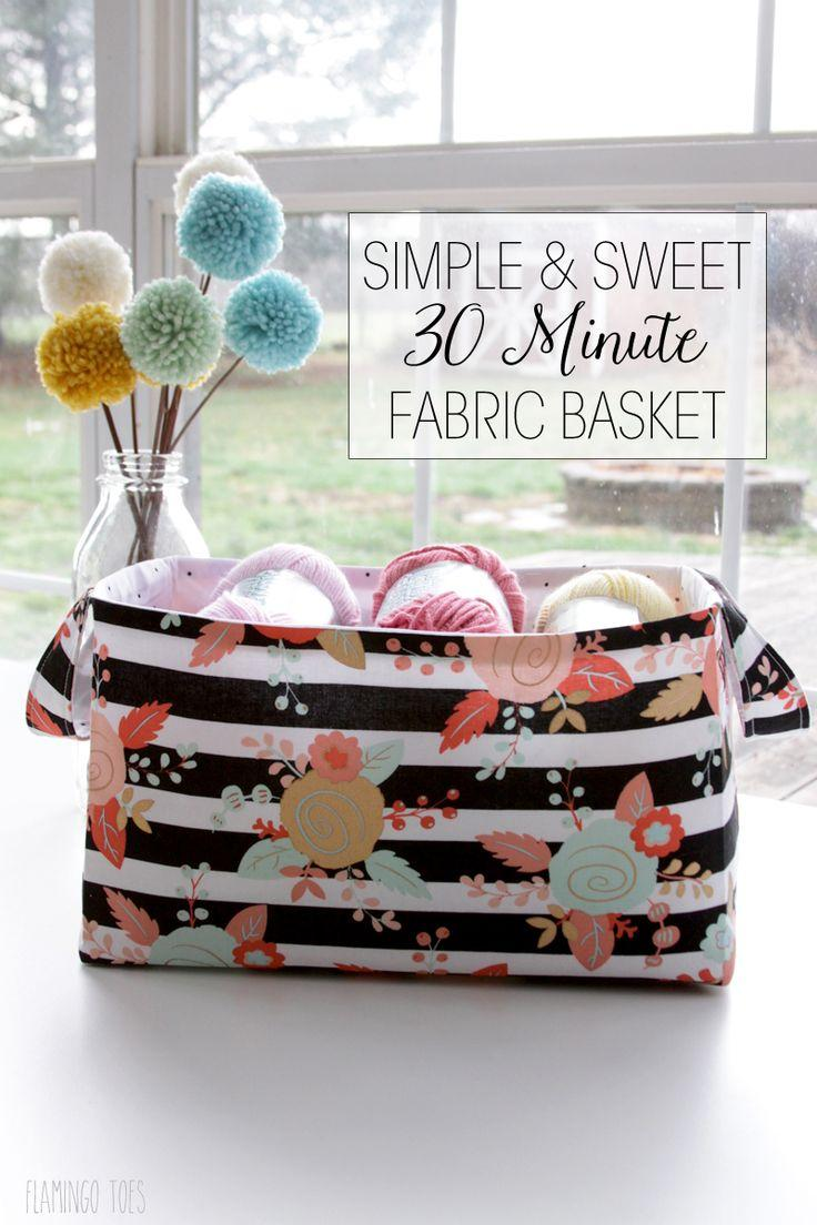Mariage - Simple And Sweet 30 Minute Fabric Basket -