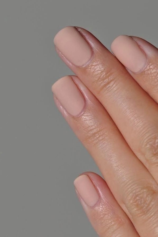 Wedding - Nail Inspiration: Nude Matte Nails