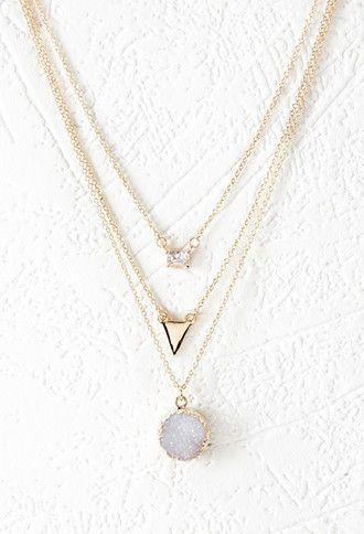 Mariage - Rhinestone Layered Chain Necklace