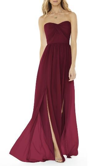 a6608a37b148 Social Bridesmaids Strapless Georgette Gown #2622073 - Weddbook