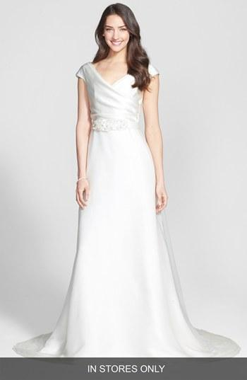 Wedding - Jesus Peiro Embellished Waist Draped Satin Dress (In Stores Only)