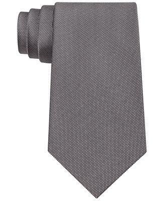 Hochzeit - Calvin Klein Silver Spun Solid Slim Tie