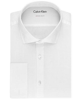 Свадьба - Calvin Klein X Men's Extra Slim-Fit French Cuff Tuxedo Shirt