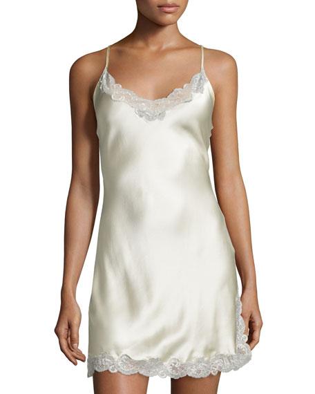 Свадьба - Lace-Trim Button-Back Short Chemise, Buttercream