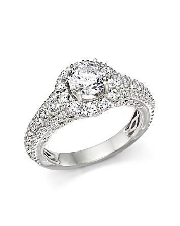 Wedding - Bloomingdale's Certified Diamond Halo Ring in 14K White Gold, 2.20 ct. t.w.