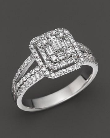 زفاف - Bloomingdale's Fancy-Cut Diamond Ring in 14K White Gold, 1.00 ct. t.w.