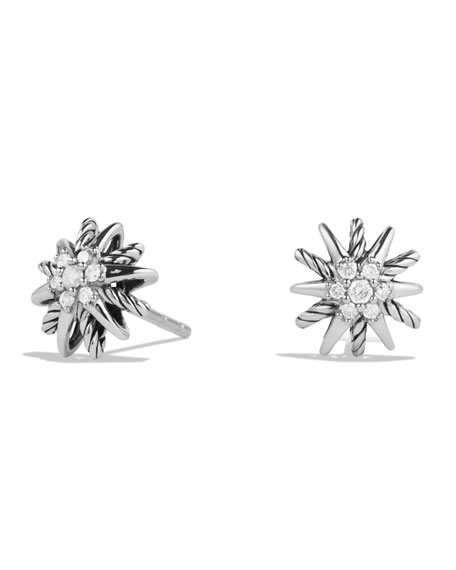 Mariage - Starburst Earrings with Diamonds