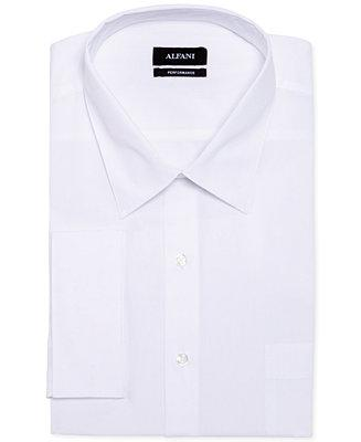 Wedding - Alfani Alfani Big and Tall Solid Performance French Cuff Shirt