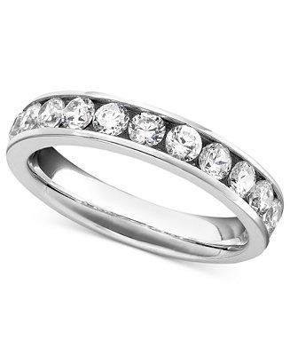 زفاف - Diamond Band Ring in 14k White Gold (1 ct. t.w.)