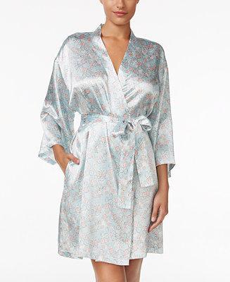 Hochzeit - Thalia Sodi Thalia Sodi Printed Satin Wrap Robe, Only at Macy's
