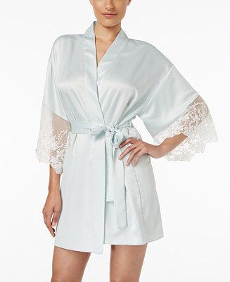 Mariage - Flora by Flora Nikrooz Flora Nikrooz Lace-Trimmed Charmeuse Robe