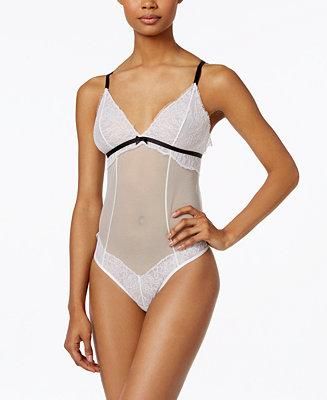 Mariage - Maidenform Maidenform Super Sexy Unlined Lace & Mesh Teddy MFB107, A Macy's Exclusive