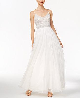 Hochzeit - Adrianna Papell Adrianna Papell Beaded A-Line Gown
