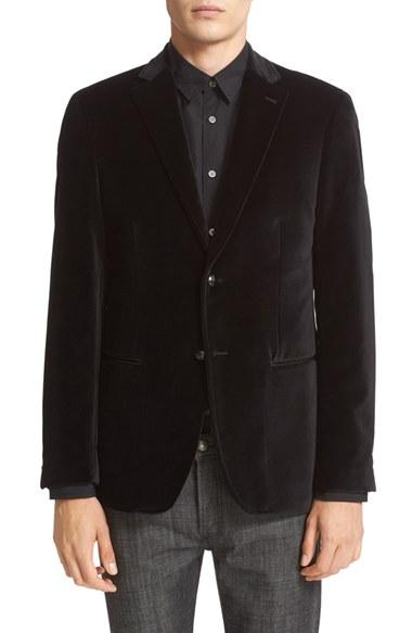 Wedding - John Varvatos Star USA Trim Fit Velvet Dinner Jacket