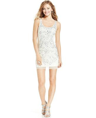 Hochzeit - Adrianna Papell Adrianna Papell Beaded Sequined Sheath Dress