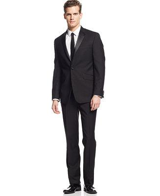 Wedding - Kenneth Cole Reaction Kenneth Cole Reaction Slim-Fit Black Tuxedo