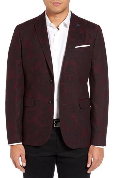 Wedding - Ted Baker London Ellis Trim Fit Jacquard Jacket