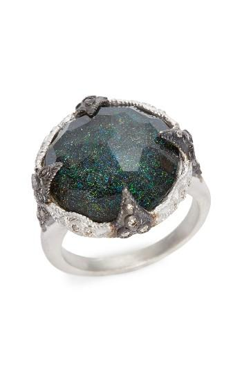 Hochzeit - Armenta New World Black Opal Crivelli Ring