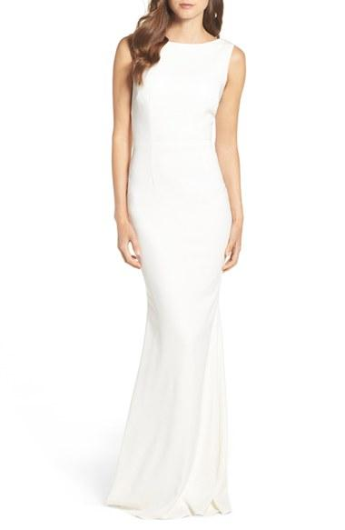 زفاف - Katie May Drape Back Crepe Gown