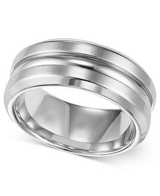 Mariage - Triton Men's Stainless Steel Ring, 8mm Wedding Band
