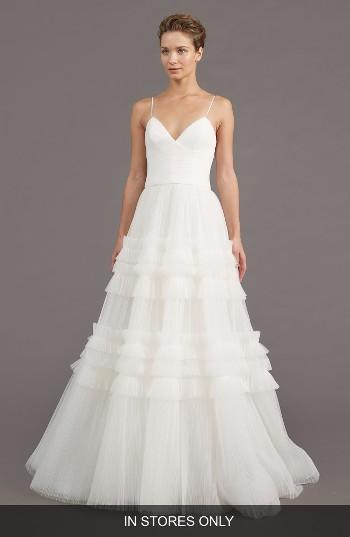 Mariage - Amsale Saylor Ruffle A-Line Gown (In Stores Only)