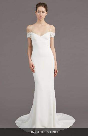 Wedding - Amsale Mel Off the Shoulder Trumpet Gown (In Stores Only)