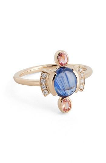 Свадьба - MOCIUN Sapphire & Diamond Cabochon Ring