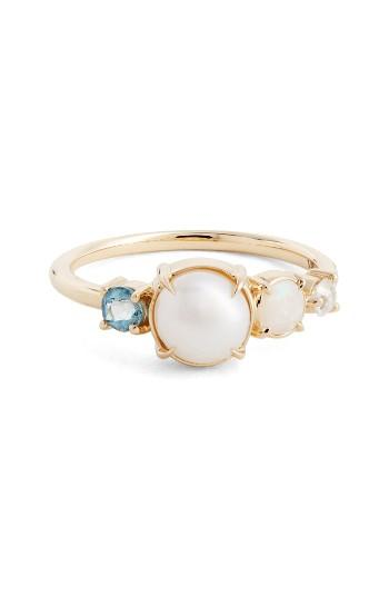 Свадьба - MOCIUN Pearl, Opal, Aquamarine & Diamond Ring