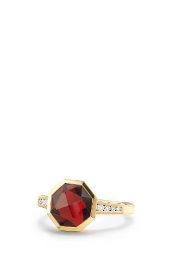 Mariage - David Yurman Guilin Octagon Ring with Diamonds in 18K Gold