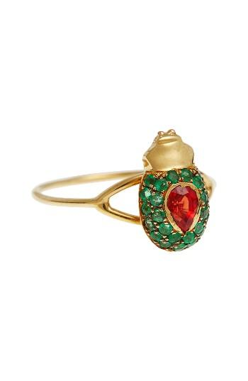 Свадьба - Daniela Villegas Maat Red Sapphire & Emerald Ring (Nordstrom Exclusive)