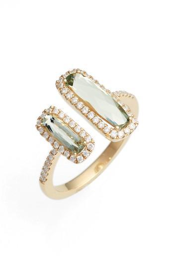 زفاف - Bony Levy Diamond & Semiprecious Stone Open Ring