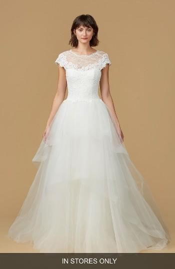 Mariage - nouvelle AMSALE Natasha Lace & Horsehair Tulle Ballgown (In Stores Only)