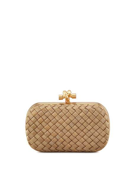 Wedding - Woven-Chain Knot Minaudiere, Gold