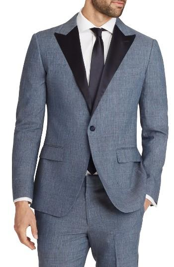 Düğün - Bonobos Trim Fit Linen Blend Dinner Jacket