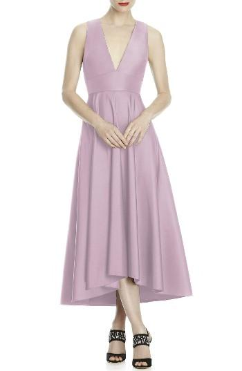 Hochzeit - Lela Rose Bridesmaid Mikado High/Low Midi Gown