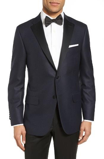 Mariage - Hickey Freeman Classic Fit Wool & Silk Dinner Jacket