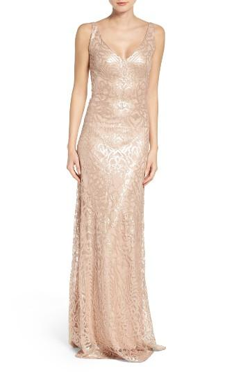 Mariage - WTOO Sequin Embroidered A-Line Gown