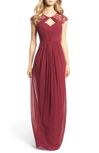 3db20bfa4dcf Hayley Paige Occasions Cap Sleeve Lace & Chiffon Gown #2674014 ...