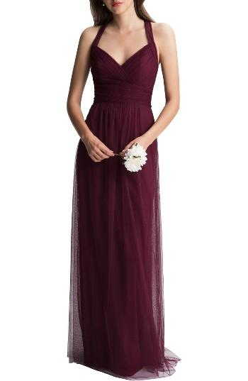 Boda - Crisscross Strap English Net A-Line Gown